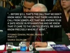 Image of Michael Mukasey testimony