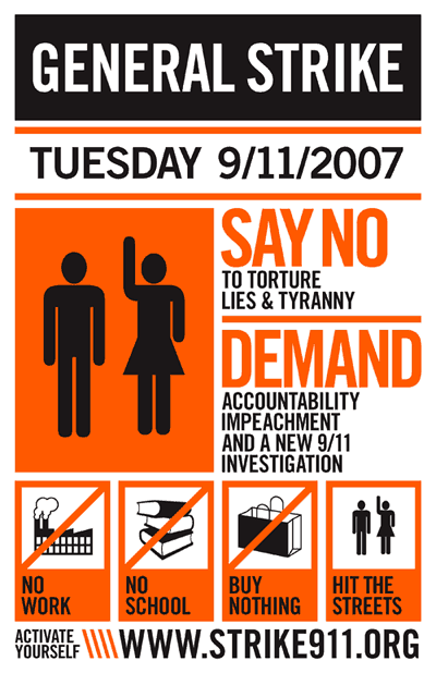 General Strike: 9/11/07 Poster