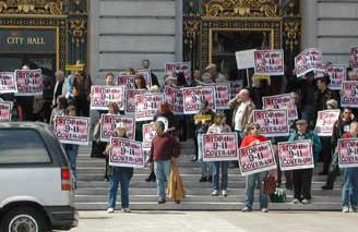 SF 9/11 Truth Conference march on City Hall photo