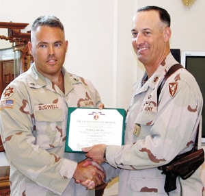 Donald Buswell receives Purple Heart for injuries suffered in Iraq